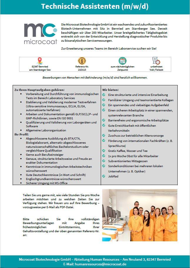 TA Laboratory Services - 21D113